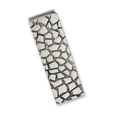 Chisel Stainless Steel Textured and Polished Designer Money Clip