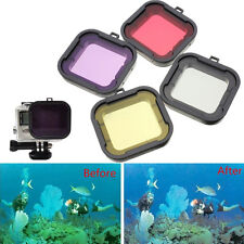4 Colors Underwater Diving Filter Lens Cover UV Filter for GoPro HD Hero 4 3+