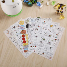 6 Sheets Cute Rabbit Diary Card Calendar Sticker Label Scrapbooking Crafts