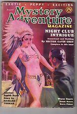 Mystery Adventure Aug 1936  Classic Saunders GGA Cvr Zenith Rand - High Grade