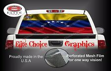 Venezuela Flag Rear Window Graphic Decal Sticker Truck Van Car SUV