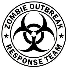 ZOMBIE OUTBREAK RESPONSE TEAM BIOHAZARD SYMBOL VINYL DECAL CAR WINDOW STICKER