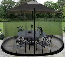 11' Outdoor Umbrella Table Screen Black Insects Mosquitoes Safe Bugs Screened