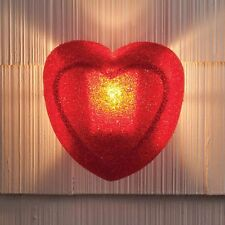 Red Heart Porch Light Cover Valentine's Day Outdoor Holiday Plastic Yard Art 2B