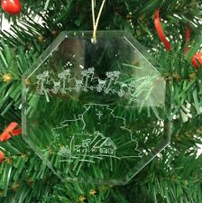 Personalized Crystal Glass Ornament Santa Nativity Christmas Custom Gift