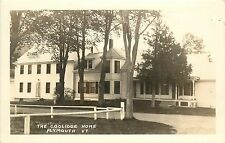 c1930s Real Photo PC; The Coolidge Home, Plymouth VT Windsor County Unposted