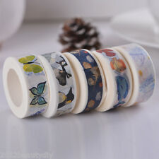 5Rolls 1.5cm*10m Washi Tape Animals Pattern Fixed Mixed
