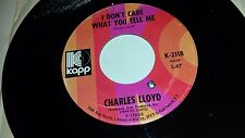 "CHARLES LLOYD I Don't Care What You Tel Me / Moonman KAPP 2118 FOLK 45 7"" VINYL"