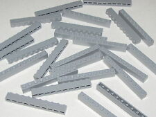 LEGO LOT OF 25 NEW 1 X 10 LIGHT BLUISH GREY BRICKS BUILDING BLOCKS