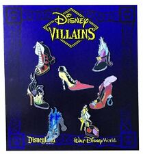 2013 Disney Villain Shoes Mini-pin Set of 7 Pins Rare N4