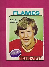 1975-76 OPC # 298 FLAMES BUSTER HARVEY TRADE EX-MT CARD (INV#6931)