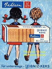 Bahlsen Leibniz biscuit german ad 1969 pupil school children satchel student xc