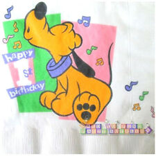 DISNEY BABIES 1st Birthday Tunes LUNCH NAPKINS (16) ~ First Party Supplies Pluto