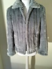 John Rocha Designer Debenhams Ladies Women's Grey Faux Fur Lined  Coat Jacket 12