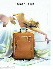 PUBLICITE ADVERTISING 066  2006  les bagages valises Longchamp & Kate MOSS