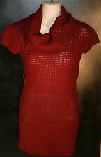 NWT Red Paint Burgundy Cowl Neck Sweater Dress Juniors Size S