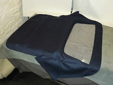MERCEDES SL W113 PAGODA 4 BOW REPLACEMENT HOOD BLUE ON BLACK MOHAIR RRP £488
