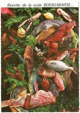Postcard France French Authentic Bouillabaise Recipe Recette MINT