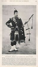 1896 MILITARY PRINT : PIPE MAJOR, ARGYLL AND SUTHERLAND HIGHLANDERS