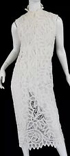 Becky Bisoulis Vintage French Sheer Lace Dress Victorian Designer 70s Edwardian