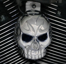 Skull Horn Cover Evil Twin Show Chrome. Harley Davidson. SKU-TC3