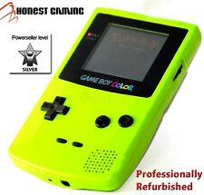 NEW SCREEN --- NINTENDO GAME BOY COLOR GREEN KIWI -- RESTORED PERFORMANCE
