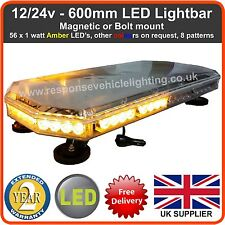 12/24V 600MM LED LIGHTBAR Recovery Flashing Warning Strobe Light lightbar Amber