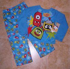 NWT YO GABBA GABBA 2pc L/S shirt long pants pajamas pjs 4T