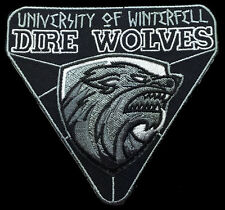 WINTER IS COMING GAME OF THRONES HOUSE STARK IRON ON DIRE WOLVES PATCH
