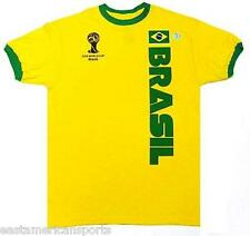 Brasil Brazil OFFICIAL FIFA World Cup 2014 Soccer Jersey Shirt Hologram Ylw 2XL