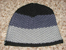 New No Tags Womens One Size Gray/Black  Sessions Knit Beanie