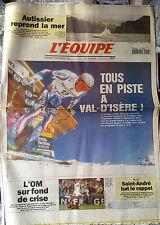 L'Equipe Journal du 16/12/1994; Autissier/ Val d'Isère/ L'OM/ Rugby Saint-André