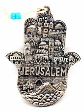 Blessing For Home Hamsa Hand Metal From Jerusalem.