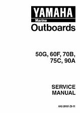 Yamaha 50G 60F 70G 75C 90A Outboard Engines Repair Service Manual FREE SHIPPING