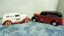 LOT OF 2 LIM ED ACE HARDWARE PANEL TRUCK COIN BANKS 1937 & 38 ERTL LIB CLAS SH3E