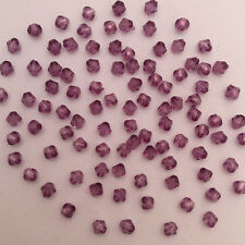 Free Shipping DIY Jewelry 500PCS 4mm Violet  Bicone Acrylic Beads