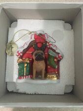 Danbury Mint Pug 2009 Dog House Ornament