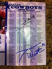 JASON WITTEN & DEON ANDERSON SIGNED Cowboys Training Camp Program pamphlet
