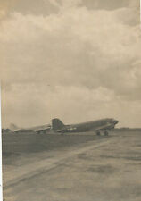 1945-6 WWII Occ Japan USAAF two transport airplanes, photo  ITAMI AFB OSAKA