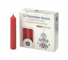 Biedermann & Sons Pyramid Candles - Red - Box of 12 (C1118RD)