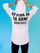 Victorias Secret Pink Nation GO PINK OR GO HOME Pullover Hoodie NWT L