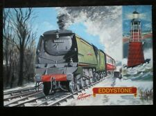 POSTCARD BULLIED WEST COUNTRY CLASS LOCO NO 34028 'EDDYSTONE'