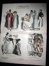 Early 1800s Germany Upper Class Dress & Waitress -1880 Costumes & Fashion