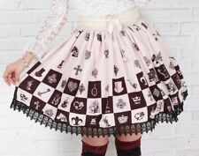 Cosplay Lolita Fantasy Gothic Princess Skirt with lace (white)