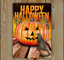Halloween Sign, Halloween House Sign With Pumpkin Rat And Hands, Unique Signs