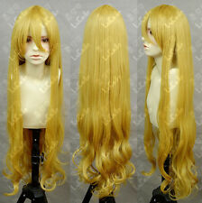 K-On! Kotobuki Tsumugi 90cm Blonde Cosplay Wig Fashion Long Cos Party Wig Hair