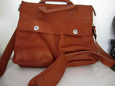 Cranford Ladies Chestnut Leather Large Messenger Shoulder bag New