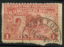 Transvaal 1895 SG#215c Penny Postage Used On Piece #D21699