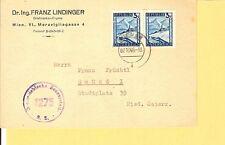 Österreich / Mi.-Nr. 738 (2) als MeF a. Fa.-Karte v. Wien 7.10.46