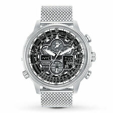 Citizen Men's Chronograph Navihawk Eco-Drive Mesh Bracelet Watch JY8030-83E